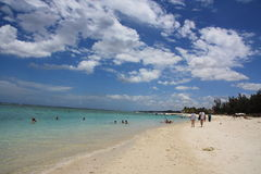 Mauritius. Beautiful beach under a sky with clouds Stock Photo