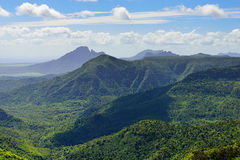 Mauritius. Black river national park. Mauritius. Sleeping volcano on a background of the sky royalty free stock image
