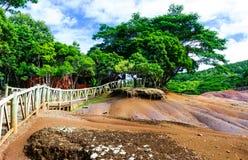 Mauritius chamarel Royaltyfria Bilder