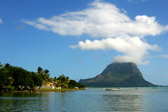 Mauritius coast. Water ocean travel Royalty Free Stock Photos