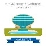 Mauritius Commercial Bank Ebene Płaski wektor ja Obraz Stock