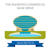 Mauritius Commercial Bank Ebene Vecteur plat i illustration de vecteur