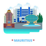 Mauritius country design template Flat cartoon sty Royalty Free Stock Image