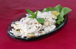 Mauritius dish - salad of the millionaire - salad from a palm tree core Stock Photography