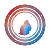 Mauritius emblem stock illustrationer