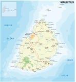 Mauritius färdplan royaltyfri illustrationer