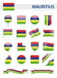 Mauritius Flag Vector Set Foto de archivo libre de regalías
