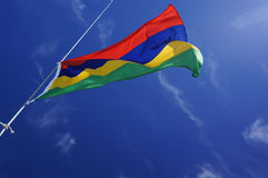 Mauritius flag. The flag of Mauritius,waving Royalty Free Stock Photo