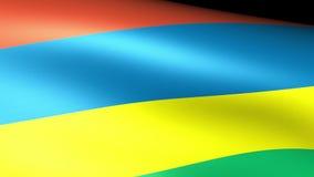 Mauritius Flag Waving stock de ilustración