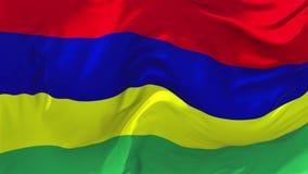 Mauritius Flag Waving en fondo inconsútil continuo del lazo del viento libre illustration