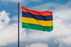 Mauritius flagga Fotografering för Bildbyråer