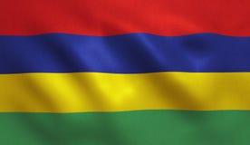 Mauritius flagga vektor illustrationer