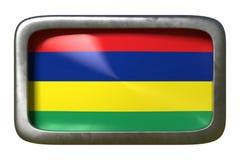 Mauritius flaggatecken stock illustrationer