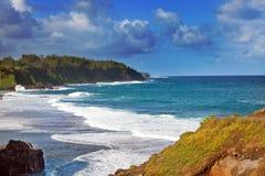 Mauritius. Grote golven bij gebrek aan een ertsader. Stock Afbeelding