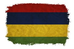 Mauritius Grunge sjunker stock illustrationer