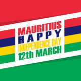 Mauritius Happy Independence Day 12 march greeting card. Vector illustration Royalty Free Stock Photography