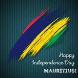 Mauritius Independence Day Patriotic Design Immagini Stock