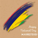 Mauritius Independence Day Patriotic Design Fotografía de archivo