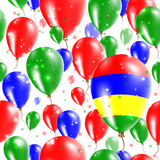 Mauritius Independence Day Seamless Pattern Fotos de archivo