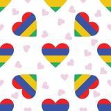 Mauritius Independence Day Seamless Pattern Fotografia Stock Libera da Diritti