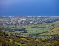 Mauritius.Indian ocean i   miasto przy dnem Zdjęcie Royalty Free