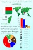 mauritius Infographics voor presentatie Alle landen van de wereld Stock Foto