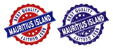 Mauritius Island Best Quality Stamp con stile sporco Immagine Stock