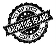 Mauritius Island Best Service Stamp con stile Grungy Fotografie Stock Libere da Diritti