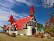 Mauritius Island, Church Cap Malheureux royalty free stock photos