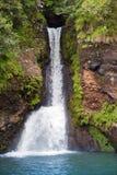 mauritius Kleine Fälle in Tal von 23 Farben der Erde parken in Stute-Zusatz-Aiguilles Lizenzfreies Stockfoto