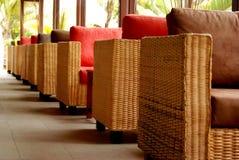 Mauritius kurortu sofa, krzesło Fotografia Stock