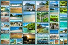 Mauritius landmark collage Stock Photo