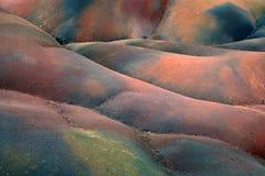 Mauritius. Landscape of colored earth at Mauritius island Stock Images