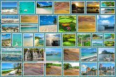 Mauritius landscapes collage Royalty Free Stock Images