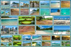 Mauritius landscapes collage Royalty Free Stock Photos