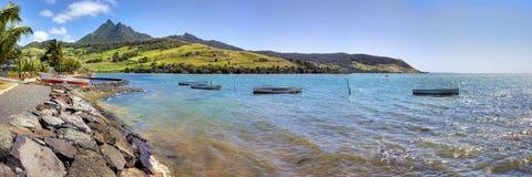 Mauritius liggande royaltyfri fotografi