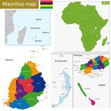 Mauritius map Royalty Free Stock Photos