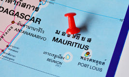 Mauritius map Stock Photo
