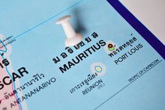 Mauritius map Stock Photos