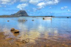 Mauritius, mening op le Morne Royalty-vrije Stock Foto's