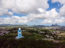 Mauritius Meteorological Services Doppler Weather-Radarpost stock foto's