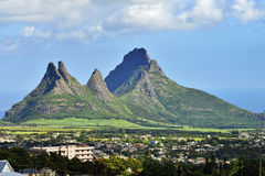 Mauritius. Mountain view (Trois Mamelles) in Mauritius, view form Curepipe Stock Photography