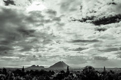 Mauritius mountains view. From the vulcan area Stock Photography