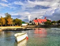 Mauritius North Coast, Scenic Red Church royalty free stock photography