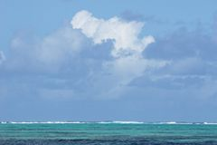 Mauritius ocean view. Nice serene view of indian ocean near Mauritius Royalty Free Stock Images