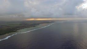 Mauritius och blått hav, flyg- plats stock video