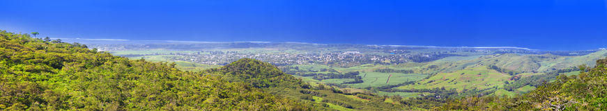 Mauritius,Panoramic aerial view of mountains Stock Image