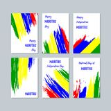 Mauritius Patriotic Cards für Nationaltag Lizenzfreie Stockfotografie