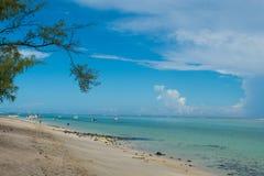 Mauritius, pi?kna wyspa, leisurely pla?owa sceneria obraz stock