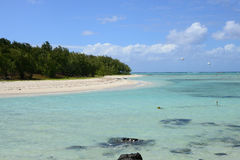 Mauritius, picturesque Ile aux cerfs in Mahebourg area Stock Photos